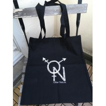 Other Nature Black Cotton Tote Bag