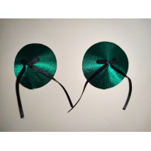 Green Nipple Pasties with Black Bow